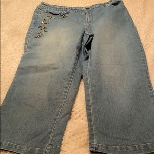 Style & Co Ankle/Cropped Jeans w/bling  Sz 12